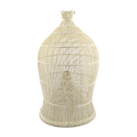 Pendant Rattan Fish trap White washed