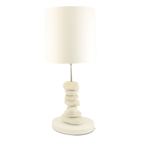 Table Lamp Pebble Stack White Pebbles
