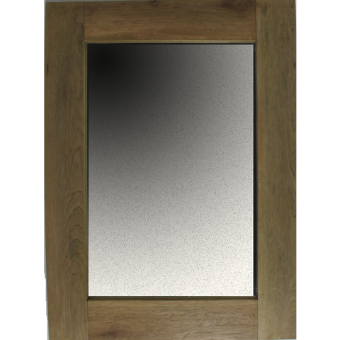 Teak Wood Framed Mirror