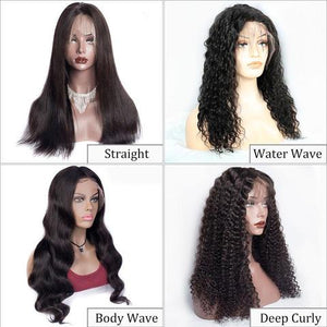Perruque Lace Frontal Wigs Body Wave Grands Ondulé 100% Cheveux Humains