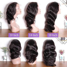 Charger l'image dans la galerie, Perruque Lace Frontal Wigs Body Wave Grands Ondulé 100% Cheveux Humains