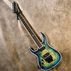B.C. Rich Shredzilla Prophecy Exotic ArchTop Cyan Blue