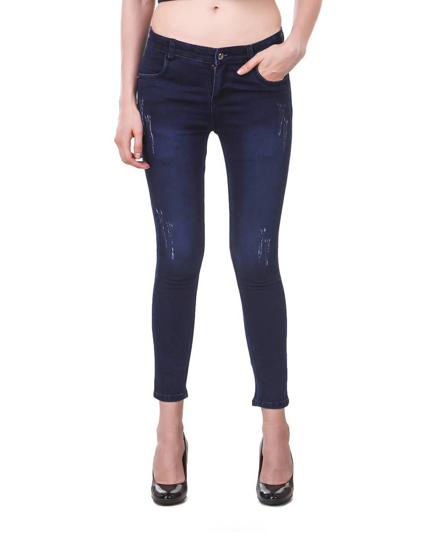 Combo Of 2 Denim Skinny Fit Jeans
