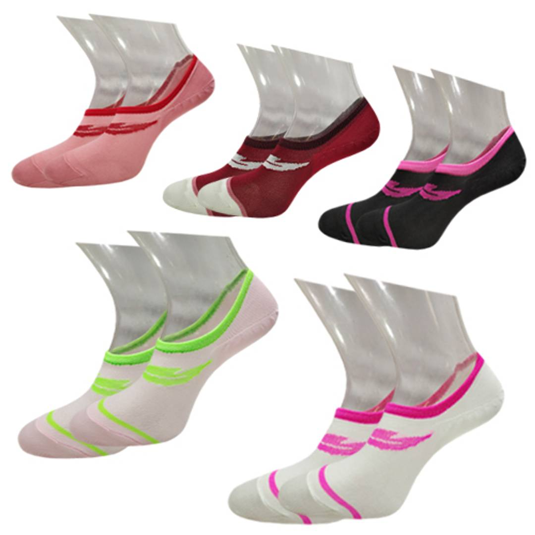 Femiss socks combo of  Secret(1) + loafer(4)(red,white,black,lemon,coffee)