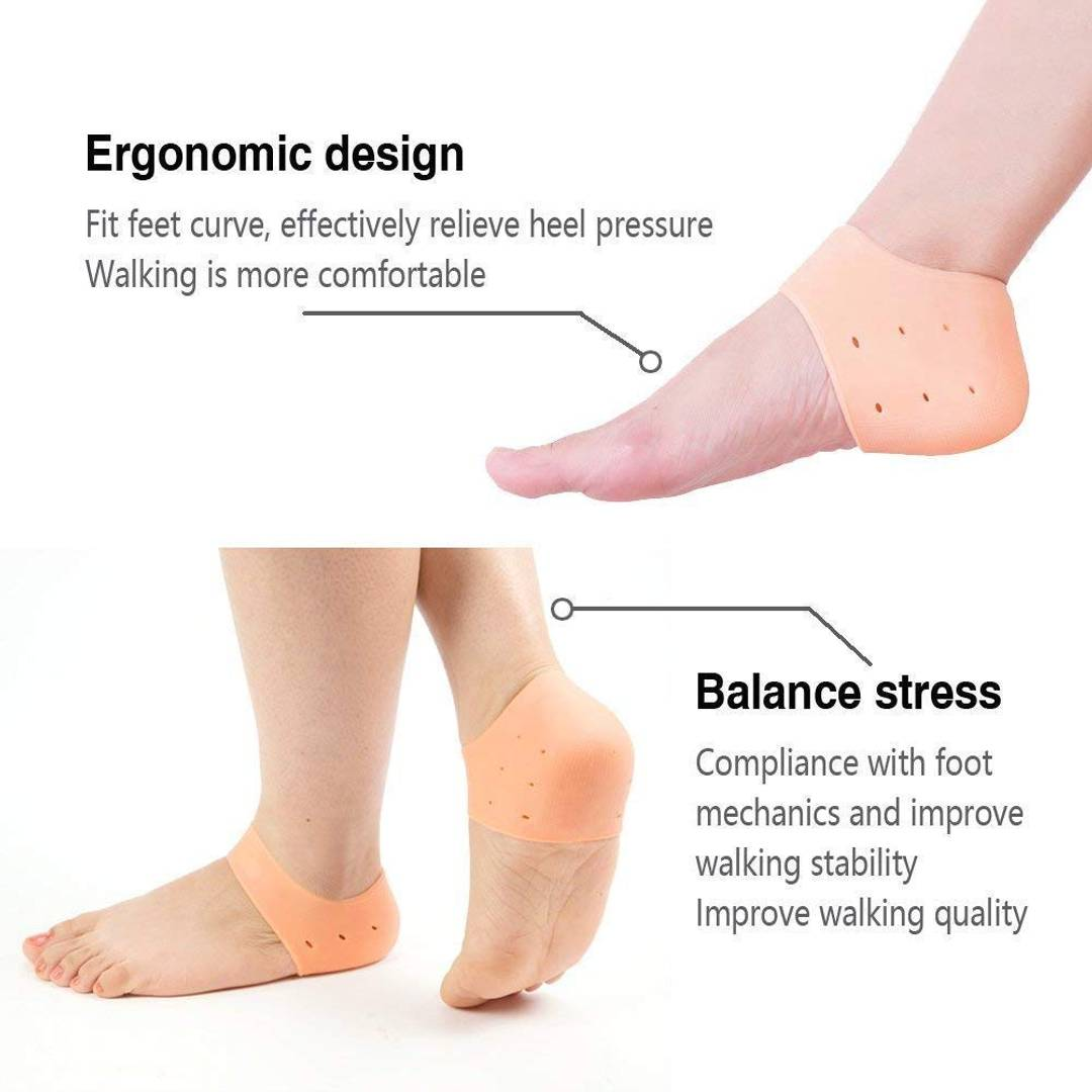 Silicone Gel Heel Socks For Dry Hard Cracked Heel For Men & Women - 1 Pair