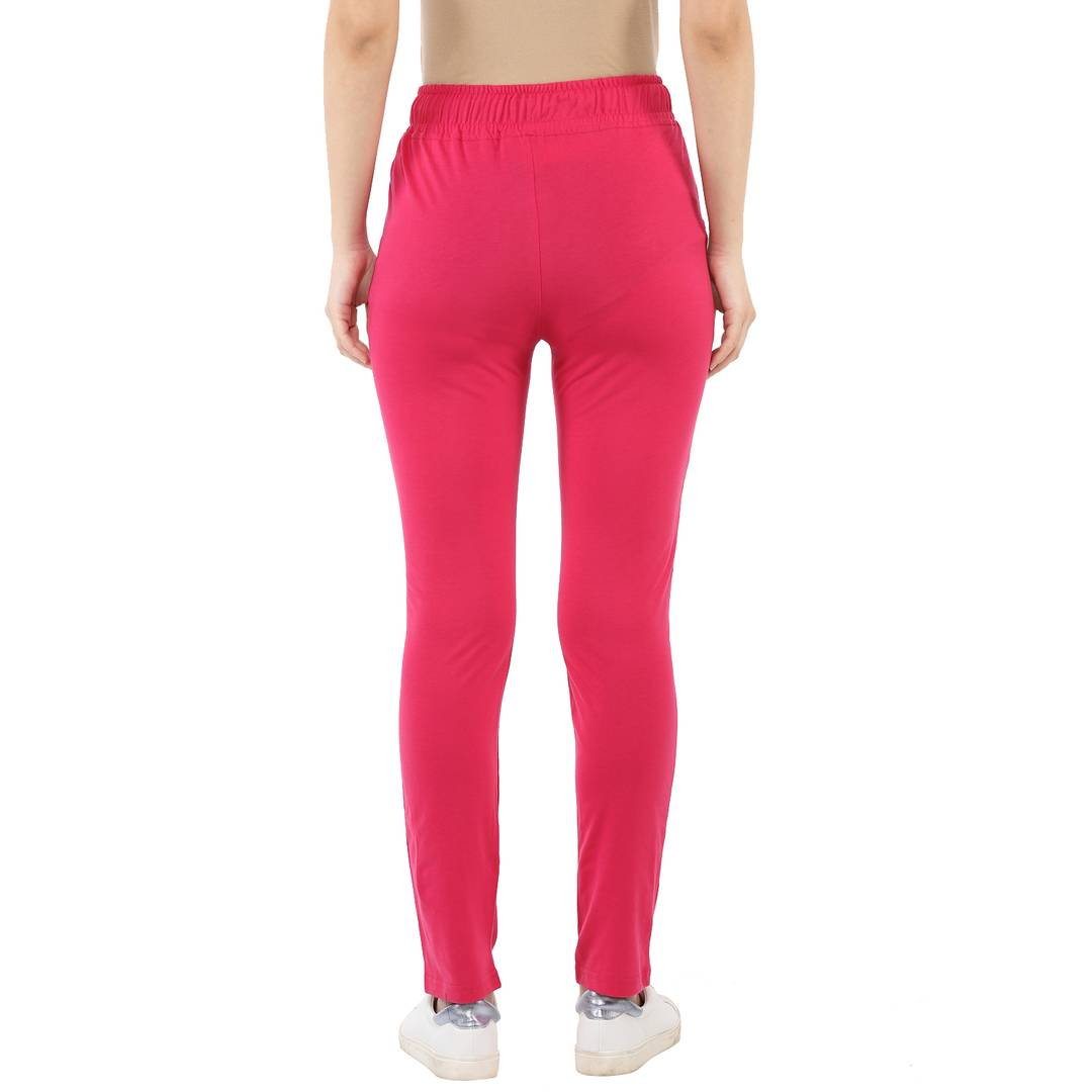 Women's Multicoloured Cotton Track Pant Combo Of 2