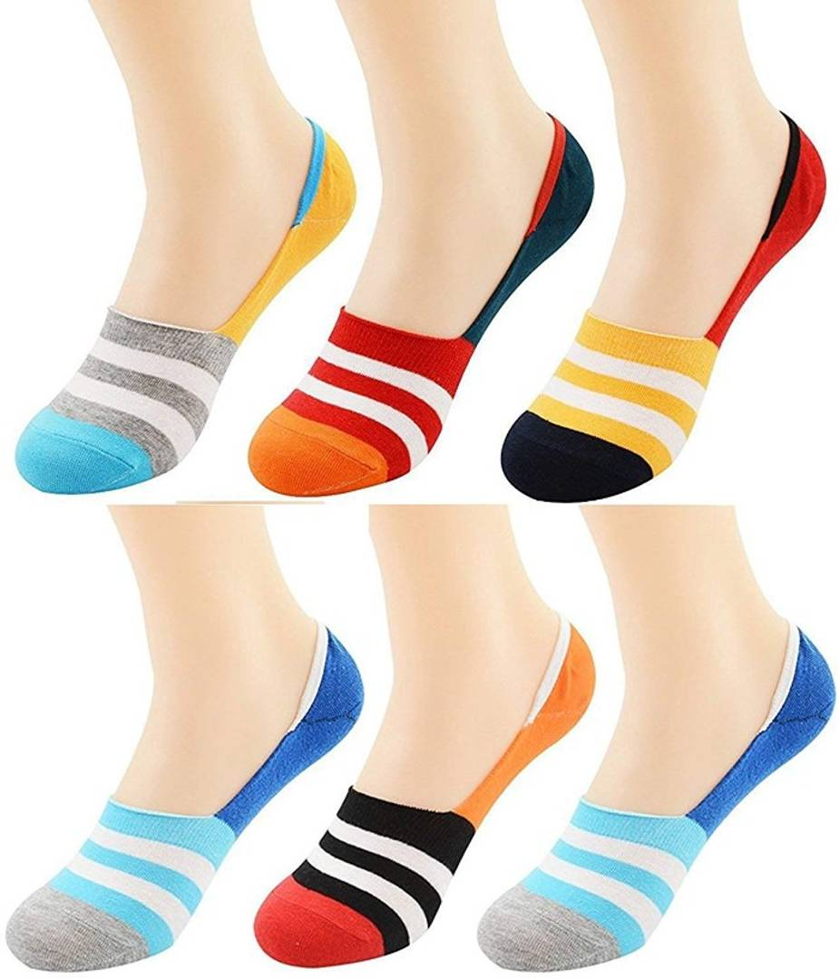 Multi-Colored Loafer Socks (Pack of 6) Design and Color As Per Availablity