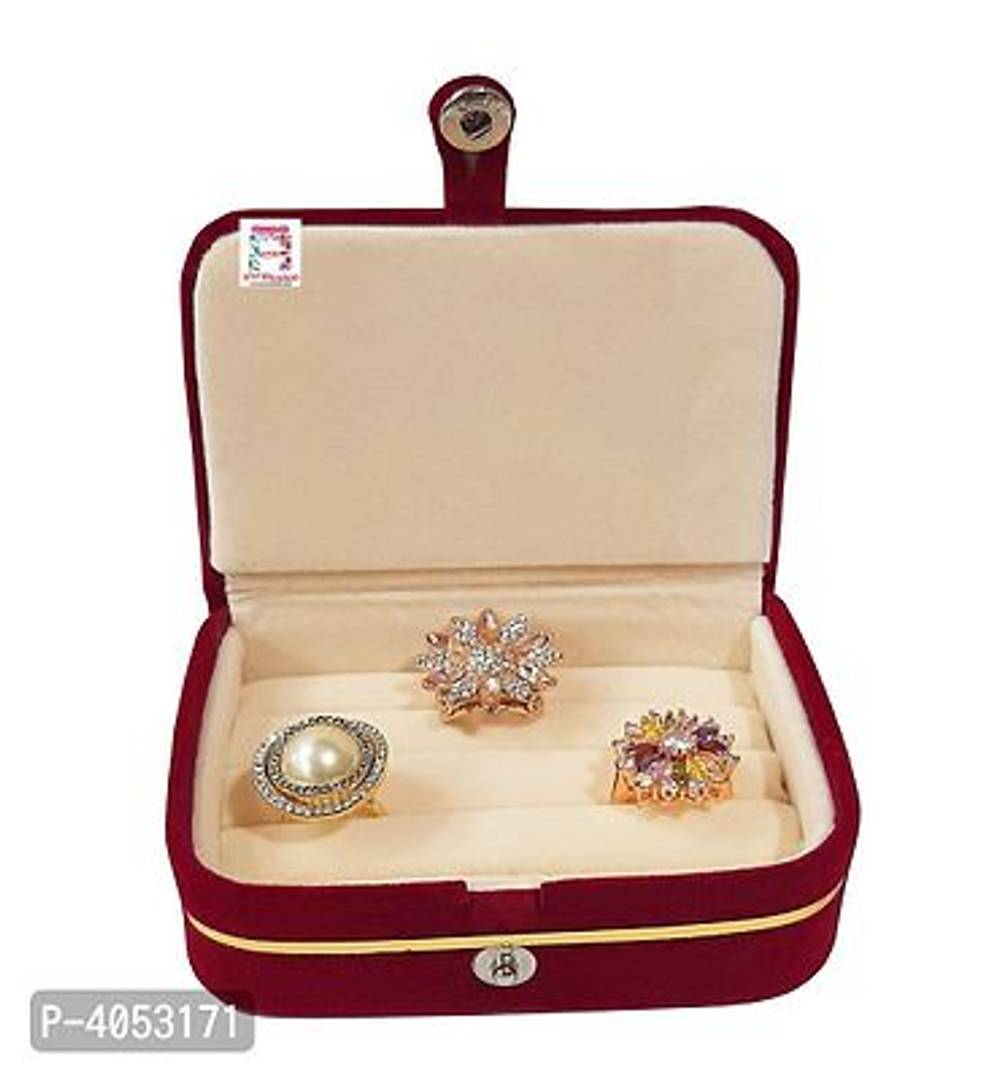 Velvet Combo Jewellery Box Ring Box Earrings Necklace Organiser For Women's Set of 2