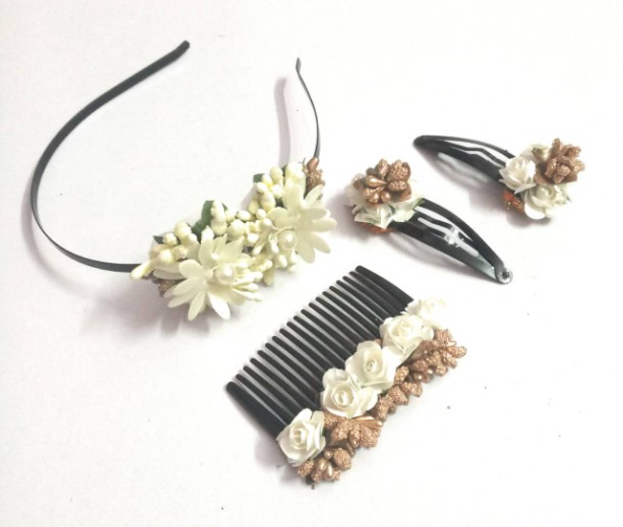 Homemade Floral Hair Accessories