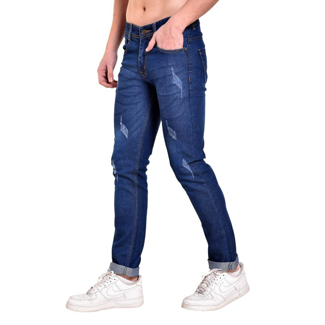 Dark Blue Damaging Jeans