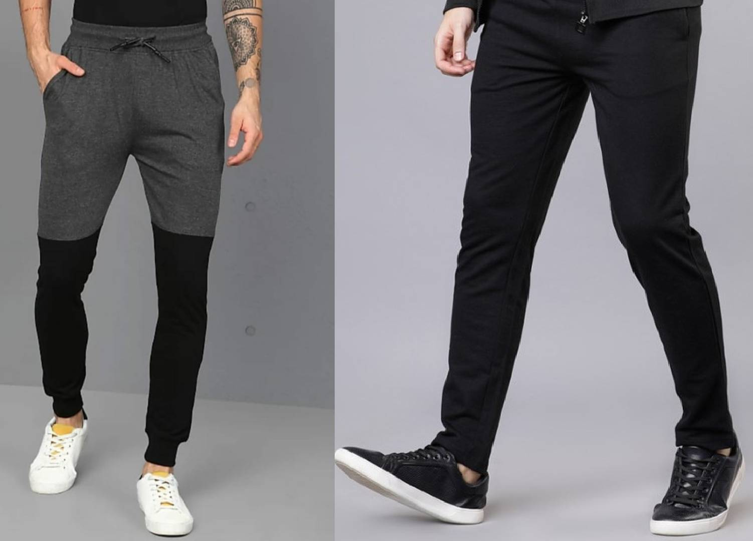 Stylish Cotton Solid Track Pant ( Pack OF 2 Pieces ) For Men