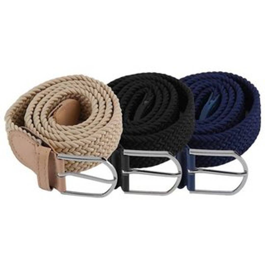 ROYAL FASHION STRETCHABLE BELTS (COMBO OF 3)