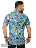 Trendy Multicoloured Satin Blend Printed Casual Shirt For Men