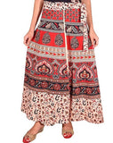 Women's Jaipuri Print Cotton Wrap Around Long Skirt.