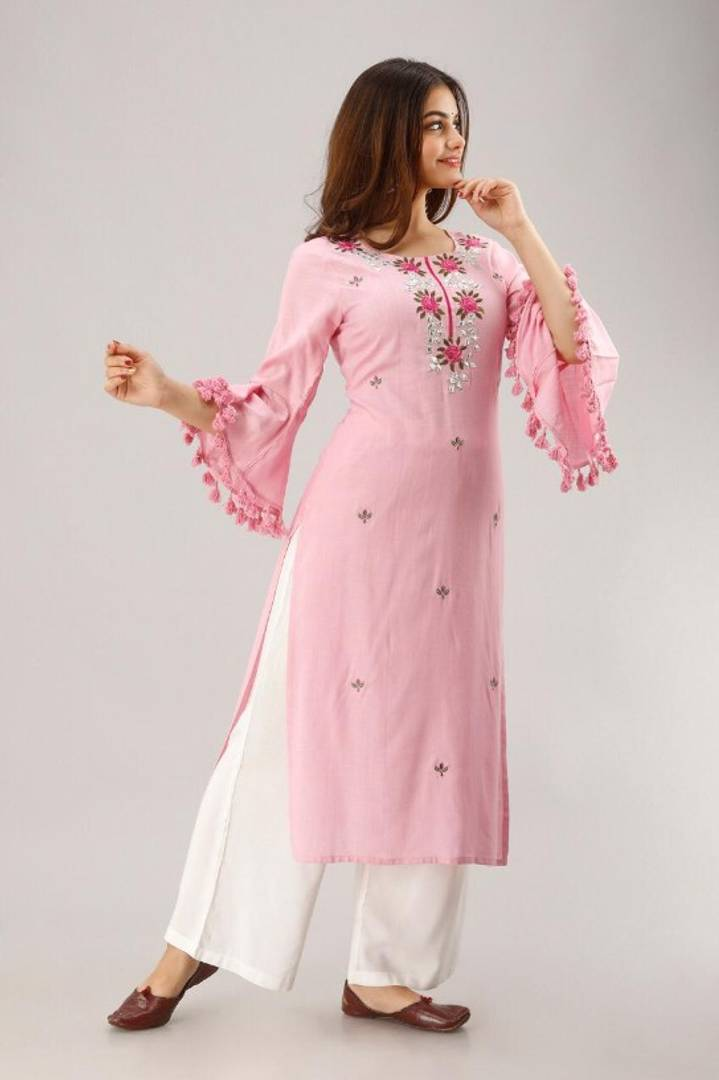 Women Ethnic Wear Kurti  With Palazzo Set