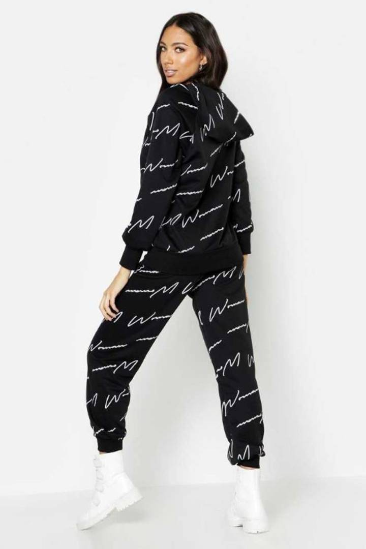 Women's Solid Cotton Printed Track Suit