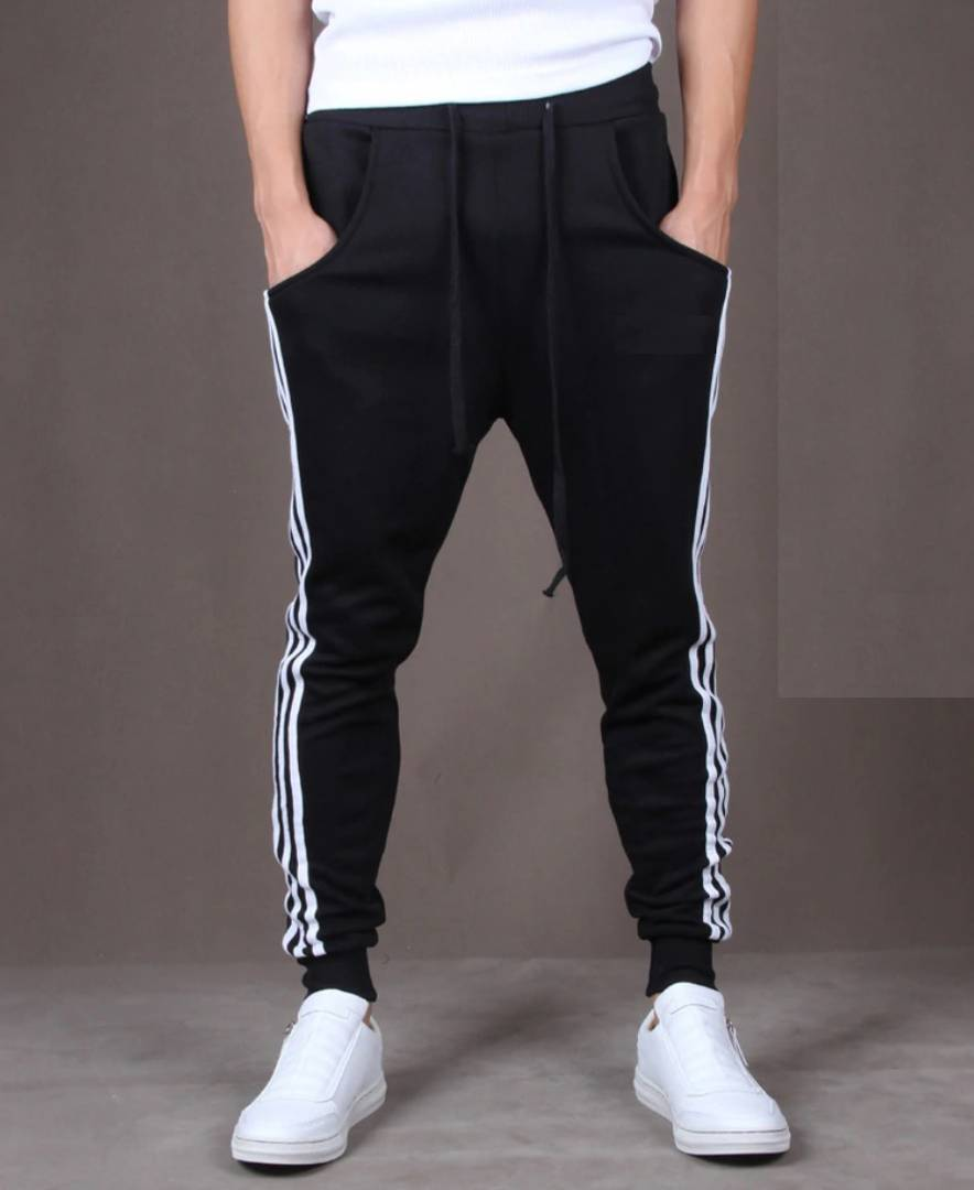 Black  Polyester Blend Joggers