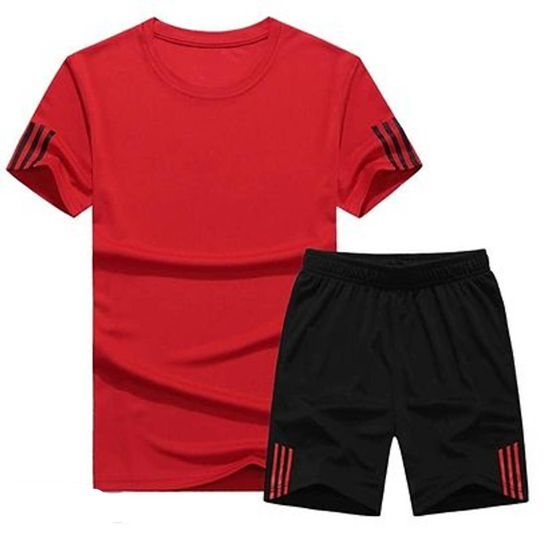 Men's Multicolored Sports T Shirt & Shorts Set