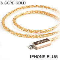 xiaofan GG 8 Core Gold Plated Upgrade Cable 2.5/3.5/4.4mm Balanced Cable With MMCX/2pin Connector For sony ex1000 ie80 se846 535