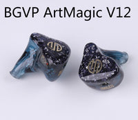 BGVP 2019 New ArtMagic V12 12BA Customizable In Ear Hifi Music Monitors HIFI Earphones 12 Balanced Armature Drivers Earbuds DM6