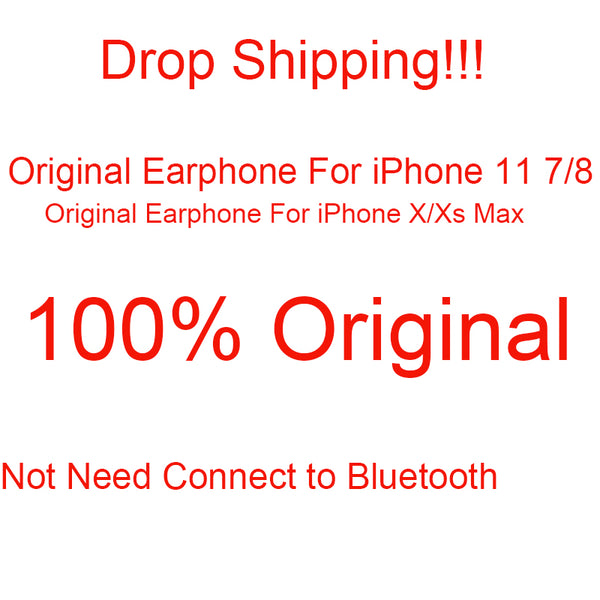 50 Pcs Wired Earphone 100% Original HiFi Stereo Headphone With Mic fone de ouvido Earphones For iPhone 11 Xs XR X Max 8 7 Plus