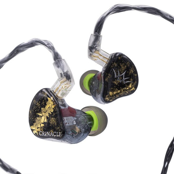 Fearless Audio x Crinacle DAWN 6BA+2 EST Drivers HiFi In-ear Earphone with 3.5-2pin Cable