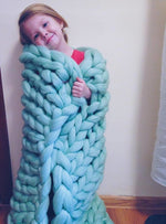 Load image into Gallery viewer, Best Gift!-Handmade Chunky Knit Blanket