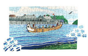 Old Fort William puzzle in collaboration with Metis artist Guy Gagne by North Shore Puzzles