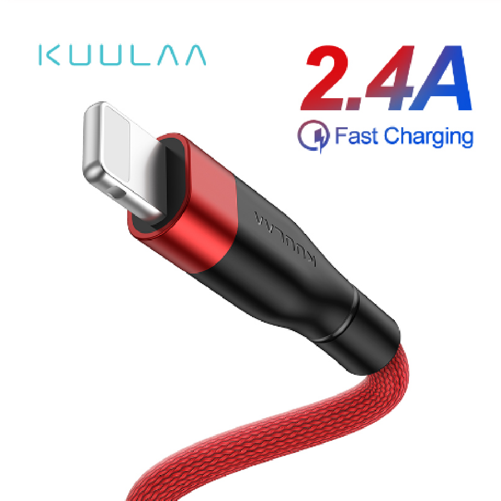 2.4A Quick Charge USB To Lightning Data Cable - USB Store