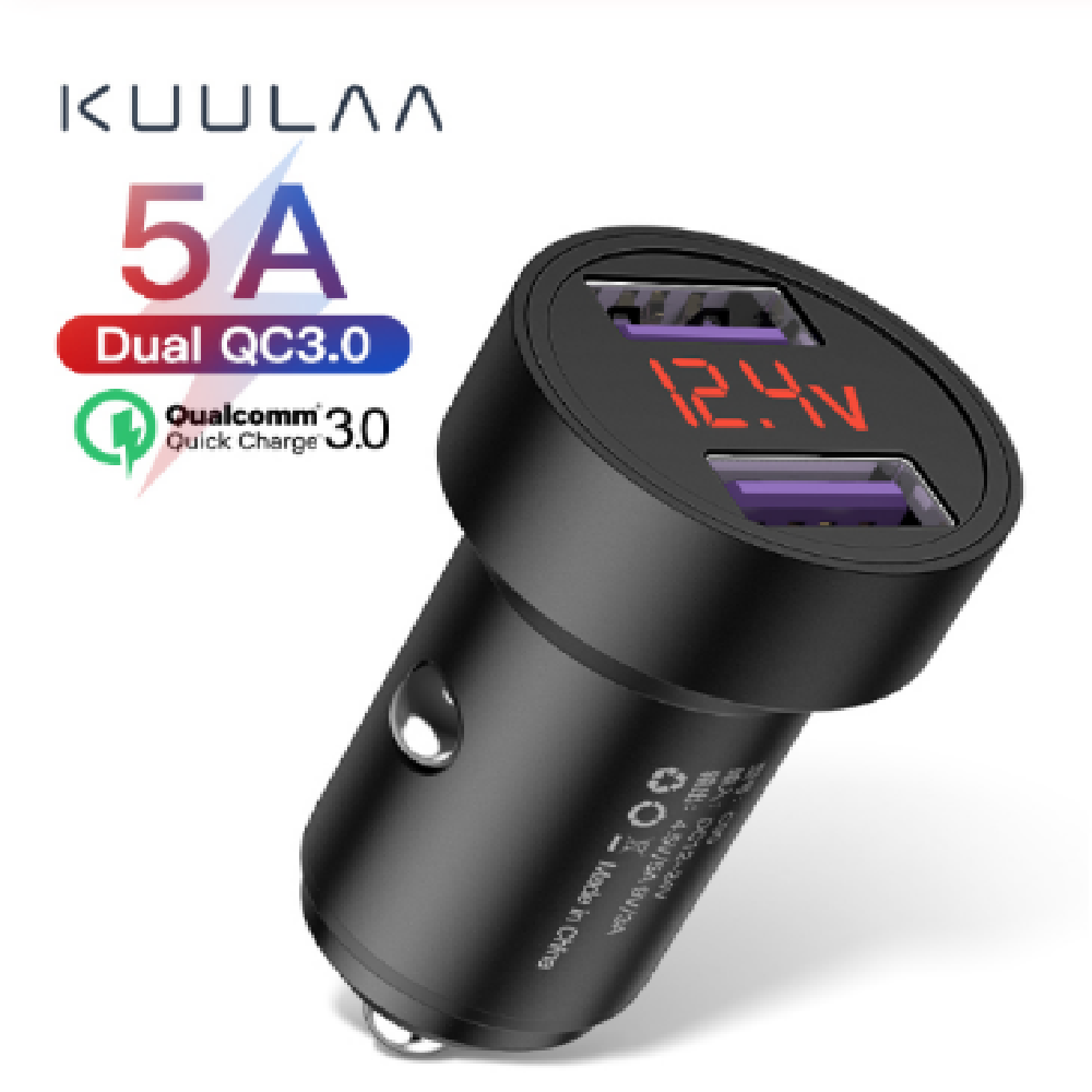 Metal Dual QC Car Charger - usbstoreuk