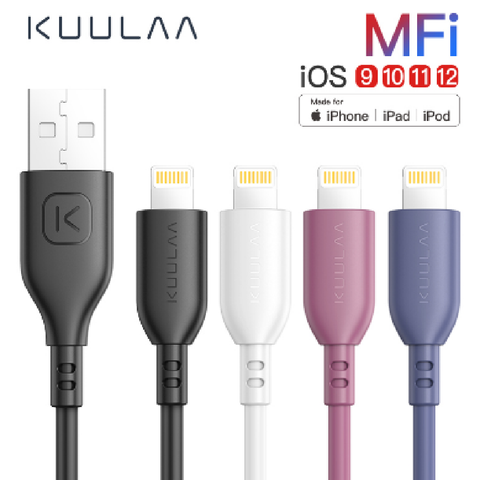 MFI 2.4a Sync Fast Charging Lighting USB Cable - usbstoreuk
