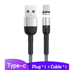 2.4A Type C Round Head Fast Charging Magnetic Data Cable - USB Store