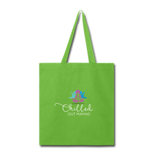 Load image into Gallery viewer, Chilled Out Mamas Tote Bag - lime green