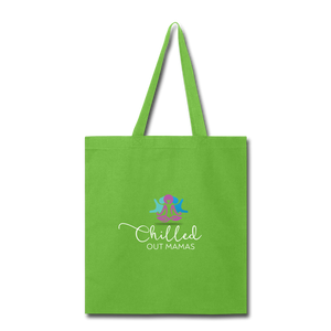 Chilled Out Mamas Tote Bag - lime green