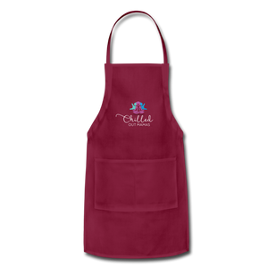 Chilled Out Mamas Apron - burgundy