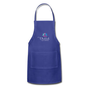Chilled Out Mamas Apron - royal blue