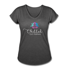Load image into Gallery viewer, Chilled Out Mamas Women's Tri-Blend V-Neck T-Shirt - deep heather