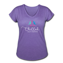 Load image into Gallery viewer, Chilled Out Mamas Women's Tri-Blend V-Neck T-Shirt - purple heather