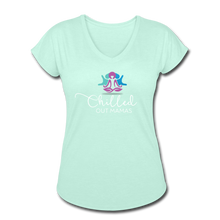 Load image into Gallery viewer, Chilled Out Mamas Women's Tri-Blend V-Neck T-Shirt - mint