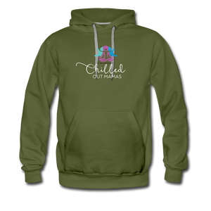 Chilled Out Mamas Unisex Premium Hoodie - olive green