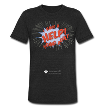"Load image into Gallery viewer, TC ""Help! I Have Young Adults"" Unisex Tri-Blend T-Shirt - heather black"