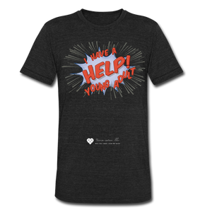 "TC ""Help! I Have Young Adults"" Unisex Tri-Blend T-Shirt - heather black"