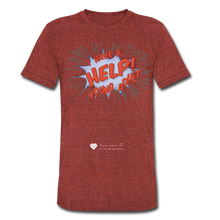 "Load image into Gallery viewer, TC ""Help! I Have Young Adults"" Unisex Tri-Blend T-Shirt - heather cranberry"