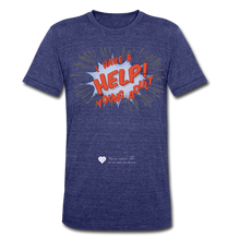 "Load image into Gallery viewer, TC ""Help! I Have Young Adults"" Unisex Tri-Blend T-Shirt - heather indigo"