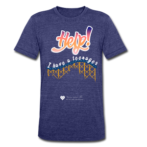 "TC ""Help! I Have A Teenager"" Unisex Tri-Blend T-Shirt - heather indigo"