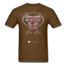 "Load image into Gallery viewer, TC ""Homeschool Mom On The Run"" Unisex Standard T-Shirt Dark - brown"