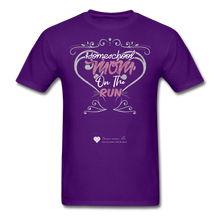 "Load image into Gallery viewer, TC ""Homeschool Mom On The Run"" Unisex Standard T-Shirt Dark - purple"