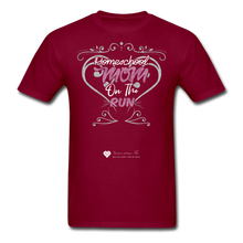 "Load image into Gallery viewer, TC ""Homeschool Mom On The Run"" Unisex Standard T-Shirt Dark - burgundy"