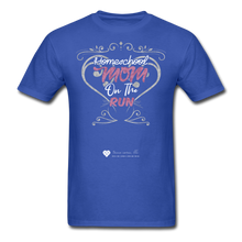 "Load image into Gallery viewer, TC ""Homeschool Mom On The Run"" Unisex Standard T-Shirt Dark - royal blue"