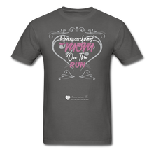 "Load image into Gallery viewer, TC ""Homeschool Mom On The Run"" Unisex Standard T-Shirt Dark - charcoal"